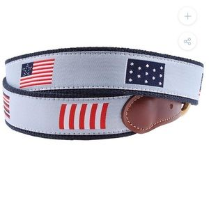 FLAGS OF OUR FATHERS LEATHER TAB BELT